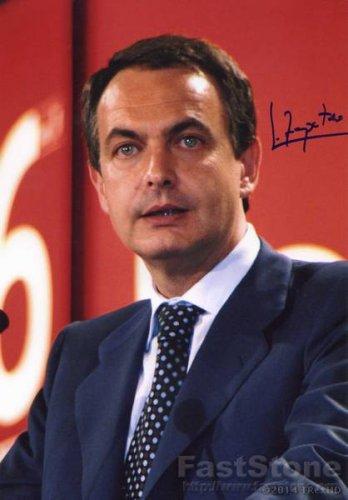 JOSE LUIZ RODRIGUEZ ZAPATERO Autographed Signed 8x10Photo Picture REPRINT