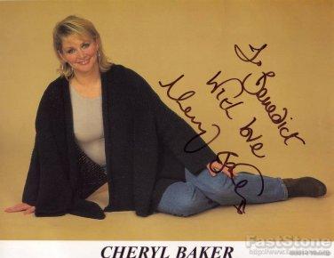 CHERYL BAKER Autographed Signed 8x10 Photo Picture REPRINT