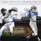 Luis Tiant & Ron Blomberg Autographed signed 8x10 Photo Picture REPRINT