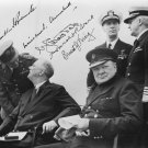 President ROOSEVELT, WINSTON CHURCHILL Autographed signed 8x10 Photo Picture REPRINT