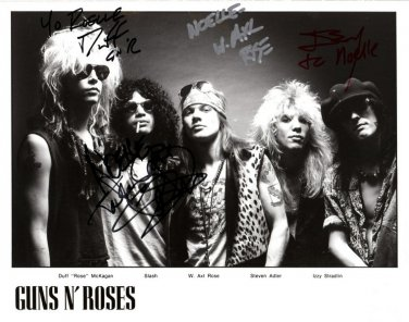 GUNS'N ROSES Autographed signed 8x10 Photo Picture REPRINT