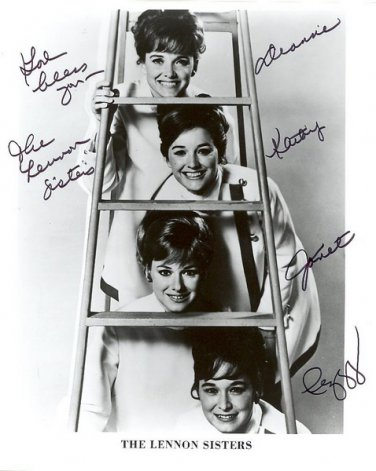 LENNON SISTERS Autographed signed 8x10 Photo Picture REPRINT