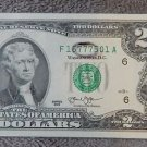 2013 UNCIRCULATED $2 TWO Dollar Fancy LUCKY 777 Crisp Note SEQUENTIAL Order