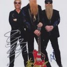 Original ZZ TOP Signed Autographed by ALL 3 8X10 Photo Picture w/COA