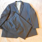MONTEFINO UOMO SIZE 48T BLACK 2 BUTTON SUIT w/ 2 VENTS