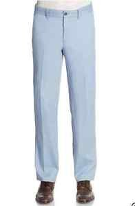 "New SAKS Fifth Avenue ""BLACK"" Cotton Chino Trousers FAIDED Blue 32x32 Retail $95"