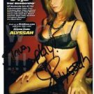 Original Adult Porn Star ALYSSAH Signed Autograph 5x8 Photo Pic wCOA