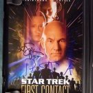 STAR TREK CONTACT Signed Autograph by PAT STEWART BRENT SPINER ALICE KRIGE DVD