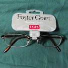 Original FOSTER GRANT  +1.25 Reading Glasses Black Metal Frame NEW Retail $24.99