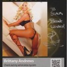 BRITTANY ANDREWS Original Autographed  Signed 8x10 Photo Picture w/COA