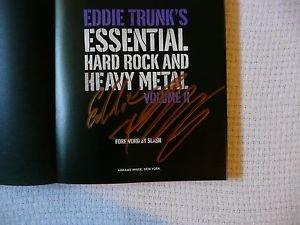 "EDDIE TRUNK Autograph Signed Book ""ESSENTIAL HARD ROCK..Vol.II"" w/COA+FREE Bonus"