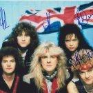 SAXON Original Autographed  Signed by 4  8x10 Photo Picture w/COA