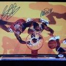 Original MAGIC JOHNSON & DENNIS RODMAN Signed Autograph 11x14 Photo Pic w/COA