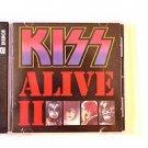 "KISS  ALL 4 Signed Autograph  ""A LIVE II '' 2CD w/COA"