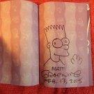 ORIGINAL Signed Autographed MATT GROENING SIMPSONS Comics w/Sketch Art Drawing 1