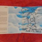 ORIGINAL Signed Autographed by MATT GROENING SIMPSONS Book w/Sketch Art Drawing4