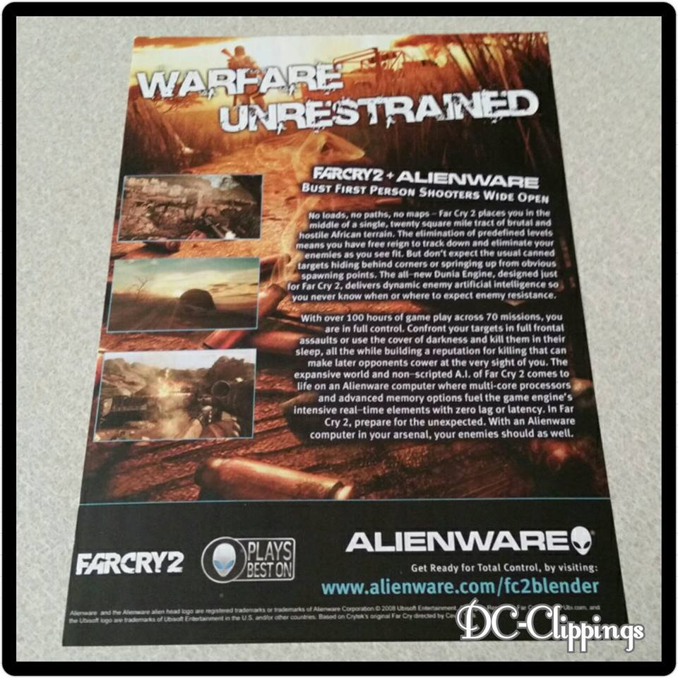 FarCry2 Video Game Ad/Clipping
