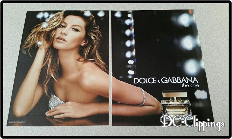 DOLCE & GABBANA 2 Page The One Unscented Perfume Ad