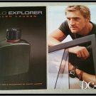 2 Page POLO EXPLORER Unscented Cologne Ad