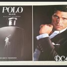 2 Page POLO BLACK Unscented Cologne Ad