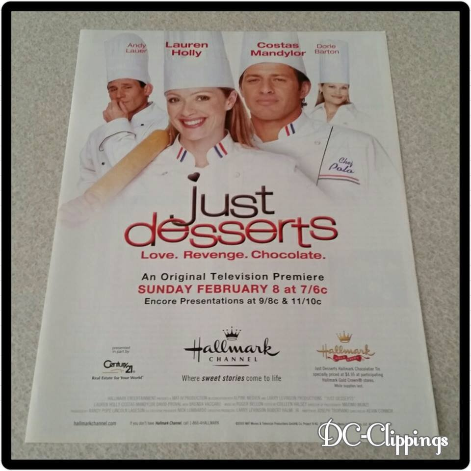 Just Desserts Ad/Clipping Lauren Holly, Costas Mandylor
