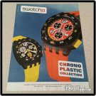 Swatch Chrono Plastic Collection Watch Ad