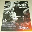 Mike Fuentes Zildjian Ad Pierce The Veil