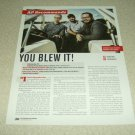 You Blew It! 1 Page Article/Clipping