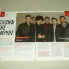 Crown The Empire 2 Page Article/Clipping