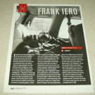 Frank Iero 1 Page Article/Clipping My Chemical Romance