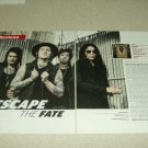 Escape The Fate 2 Page Article/Clipping