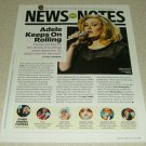 Adele 1 Page Article/Clipping