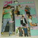 Zac Efron 1 Page Article/Clipping #2