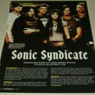 Sonic Syndicate 1 Page Article/Clipping