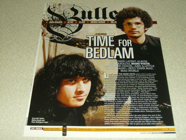 The Mars Volta 1 Page Article/Clipping #2
