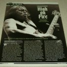 High On Fire 1 Page Article/Clipping