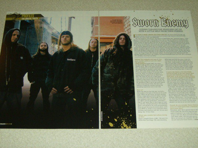 Sworn Enemy 2 Page Article/Clipping