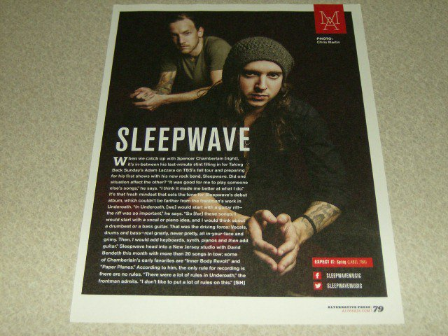 Sleepwave 1 Page Article/Clipping