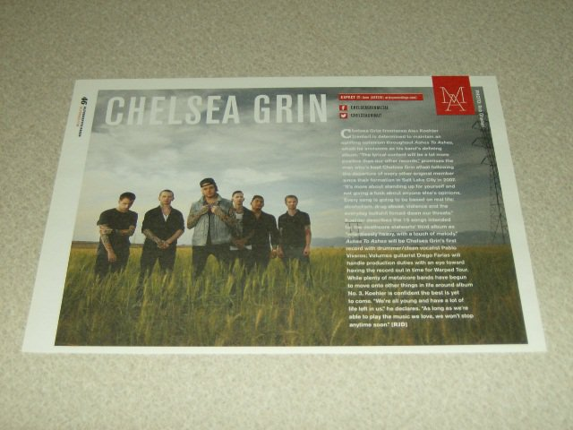 Chelsea Grin 1 Page Article/Clipping