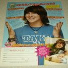 Mitchel Musso 1 Page Article/Clipping #3