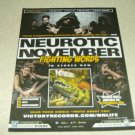 Neurotic November - Fighting Words Album Ad
