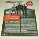 Sleep On It 1 Page Article/Clipping
