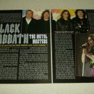 Black Sabbath 2 Page Article/Clipping #2 - Ozzy Osbourne