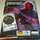 Toni Iommi KORG Tuners Ad - Black Sabbath