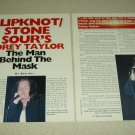 Stone Sour 3 Page Article/Clipping - Pinup - Corey Taylor