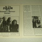Drain STH 2 Page Article/Clipping
