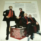 Franz Ferdinand 1 Page Article/Clipping #2