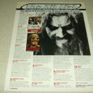 Rob Zombie 1 Page Article/Clipping #2
