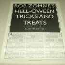 Rob Zombie 1 Page Article/Clipping #6