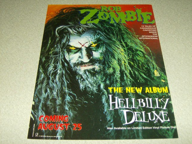 Rob Zombie - Hellbilly Deluxe Album Ad